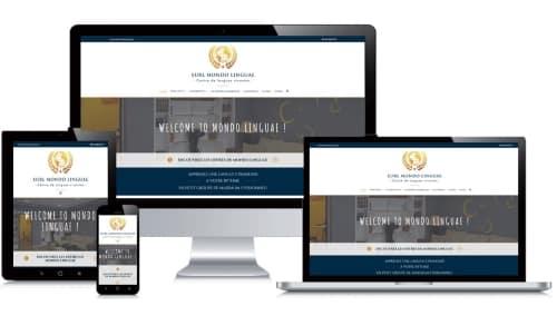 Site internet client portfolio Mondo Linguae