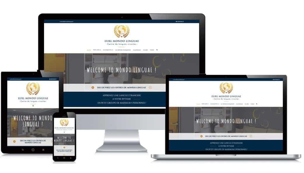 Site internet client Mondo Linguae
